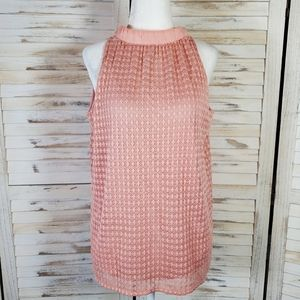 Eyelet lace halter top